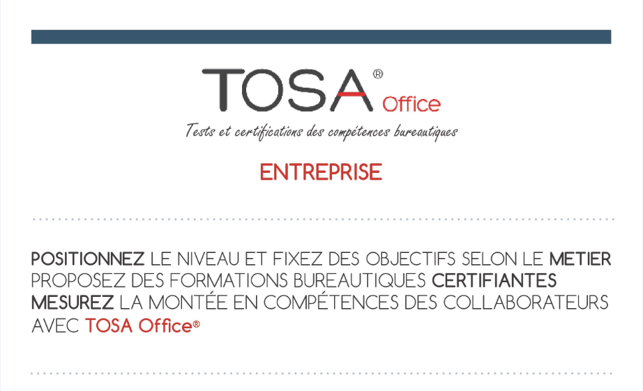 Certification Tosa Office Entreprise