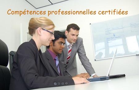 Competences professionnelles certifiees 01