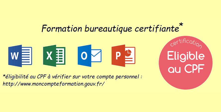 Formation bureautique certifiante